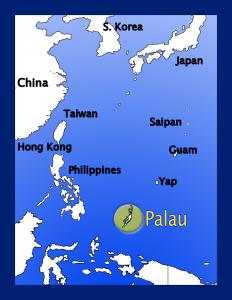 日本・パラオ 地図
