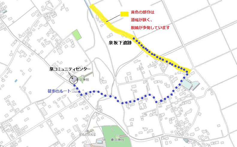 泉坂下遺跡地図
