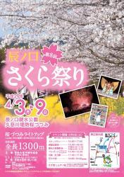 第8回辰ノ口さくら祭りポスター・チラシデータ