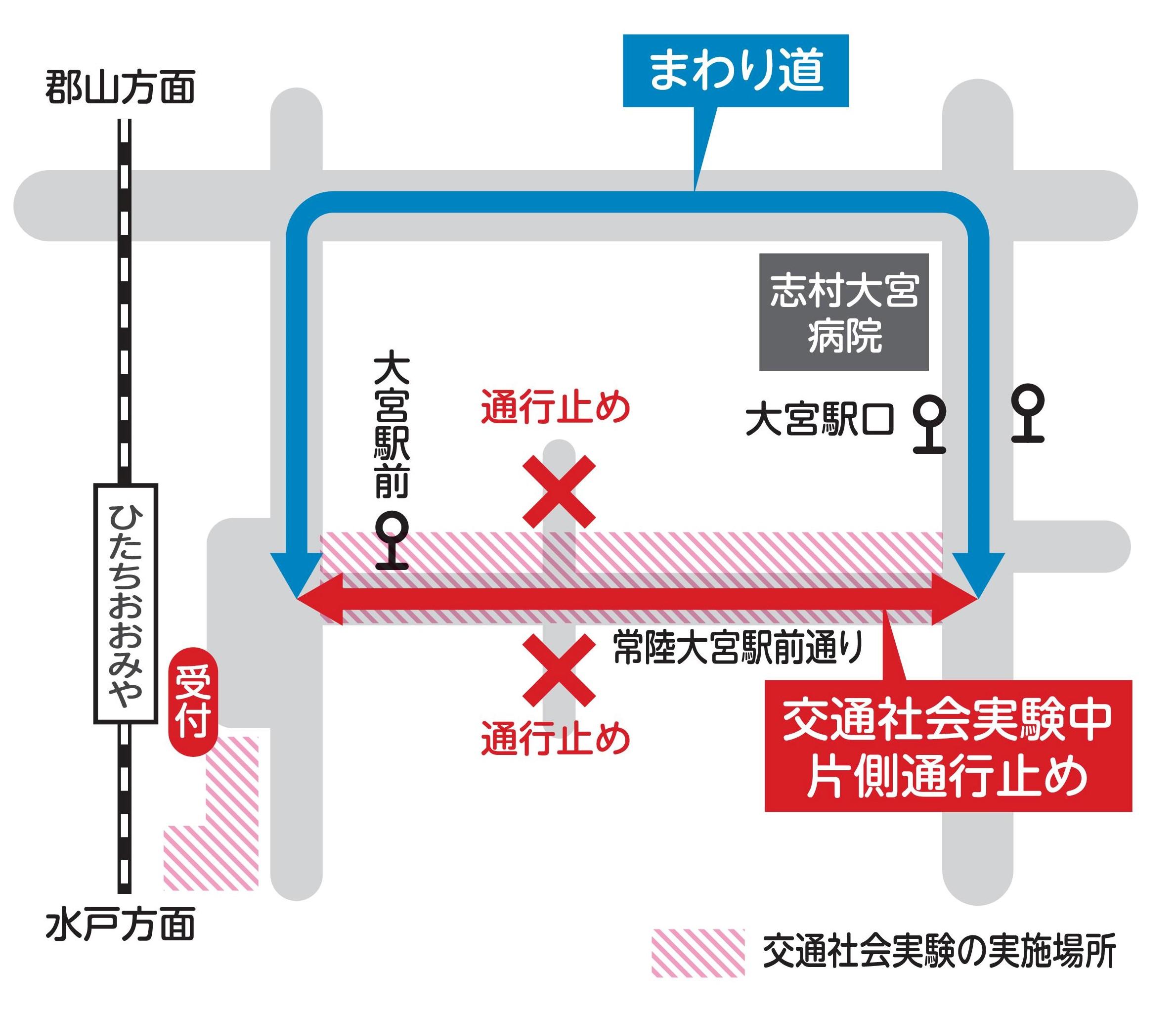 社会実験交通規制図