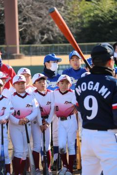 『少年少女夢つなぐ野球教室』の写真