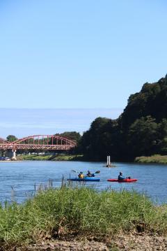 『御前山・那珂川カヌーフェスティバルが開催されました』の写真
